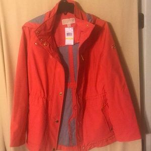 MICHAEL KORS women's hooded rain jacket NWT